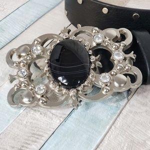 Leatherocks Genuine Black Leather Belt
